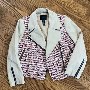 Jcrew size 8 collection tweed Moto jacket